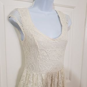 Hollister Lacey Dress Ivory S